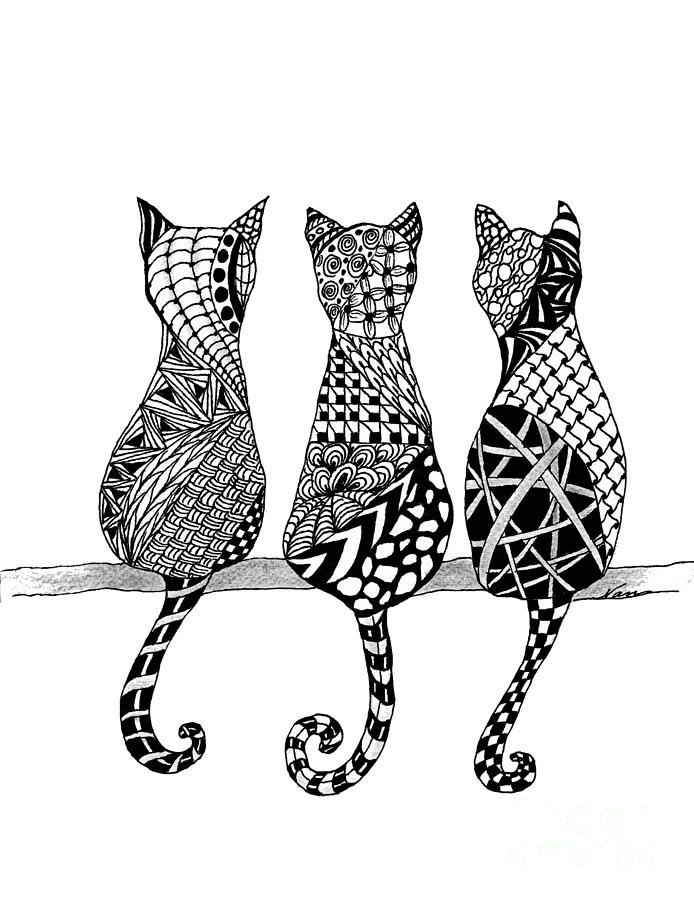The Cats Meow Drawing By Nan Wright