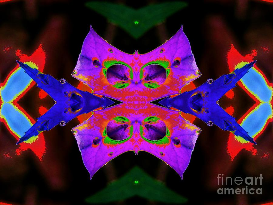Leaf Digital Art - The Cats Whiskers by Lorles Lifestyles