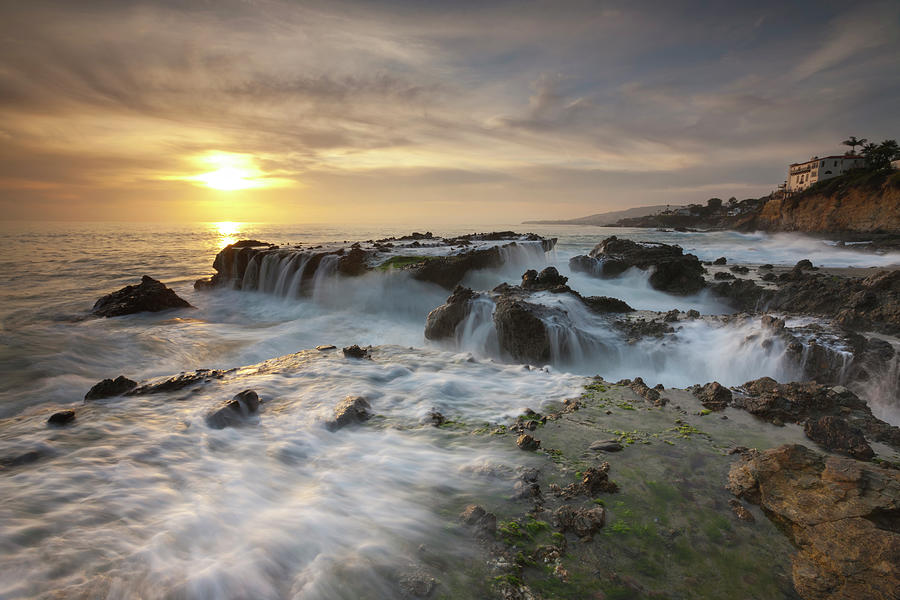 Scenic Photograph - The Cauldron - Victoria Beach by Images By Steve Skinner Photography