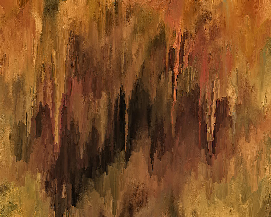 Abstract Painting - The Cave by Michael Pickett