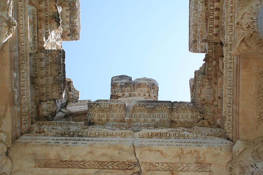 Roman Ruins Photograph - The Ceiling Of The Tetrapylon Aphrodisias by Tracey Harrington-Simpson