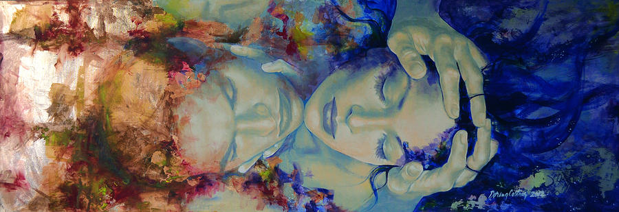 Love Painting - The Celestial Consonance by Dorina  Costras