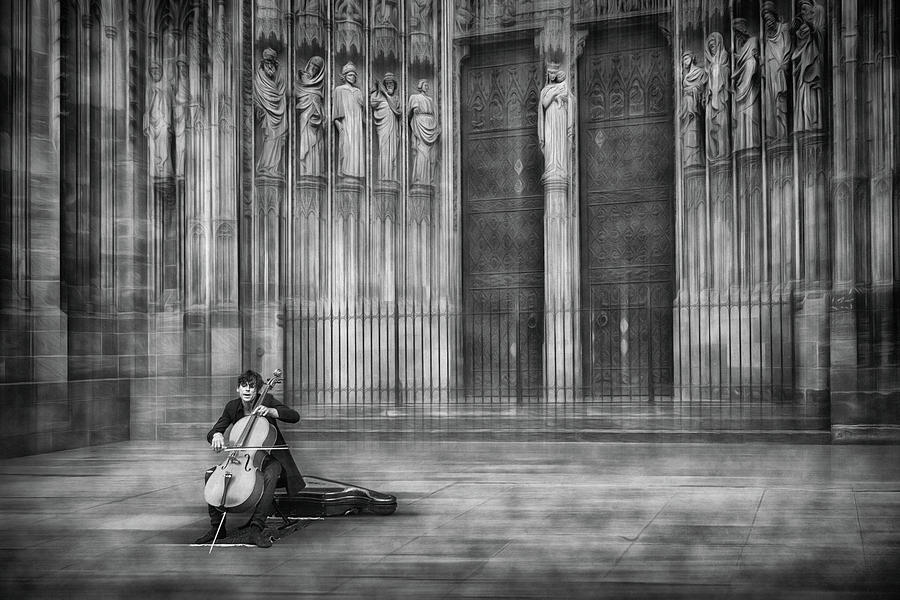Cello Photograph - The Cellist by Roswitha Schleicher-schwarz