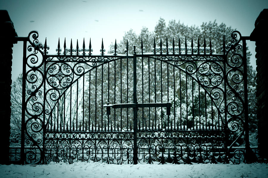Cemetery Photograph - The Cemetery Gates by Kristy Creighton
