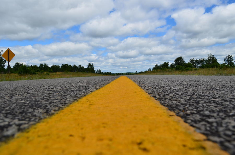 Roads Photograph - The Center Line by Jennifer  King
