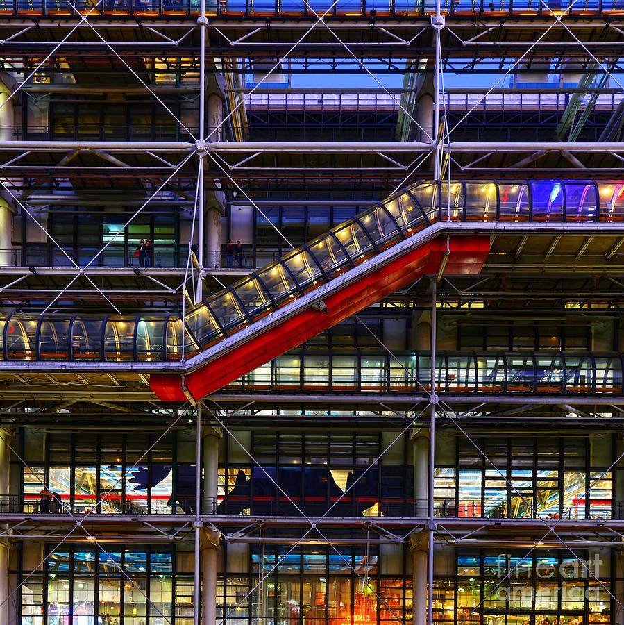 Paris Photograph - The Centre Pompidou II-paris by Lilianna Sokolowska