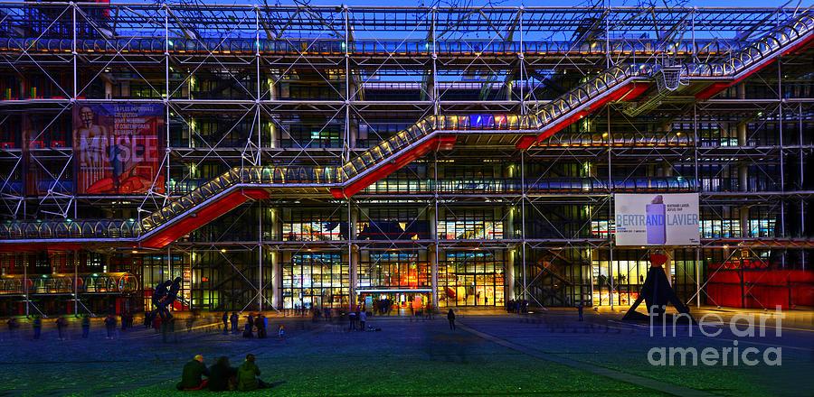 Paris Photograph - The Centre Pompidou-paris by Lilianna Sokolowska