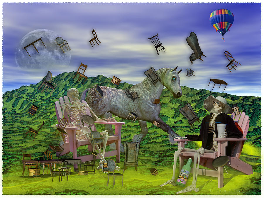 The Mixed Media - The Chairs Of Oz by Betsy Knapp
