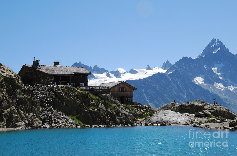Chalet Photograph - The Chalet At Lac Blanc by Camilla Brattemark