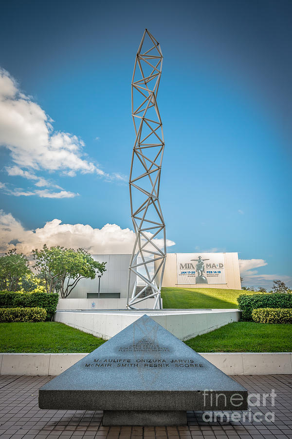 America Photograph - The Challenger Memorial 2 - Bayfront Park - Miami by Ian Monk