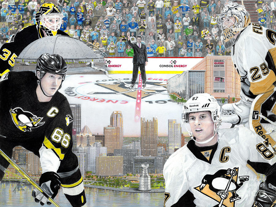 Pittsburgh Penguins Painting - The Changing of the Guard by Albert Puskaric