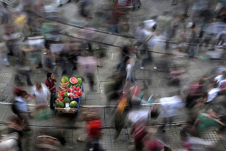 Salesman Photograph - The  Chaos Of The City by Fatih Balkan