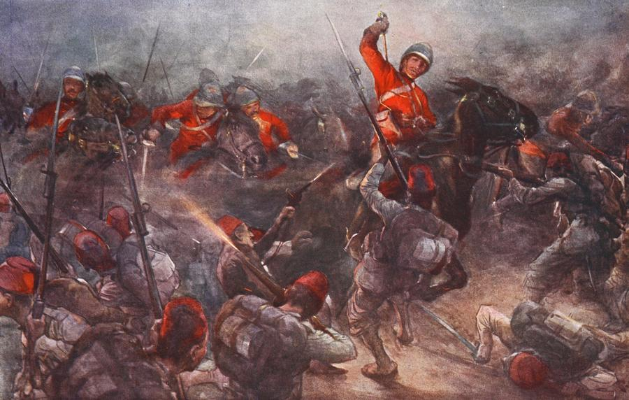 British Army Drawing - The Charge Of Drury Lowes Cavalry by Christopher Clark