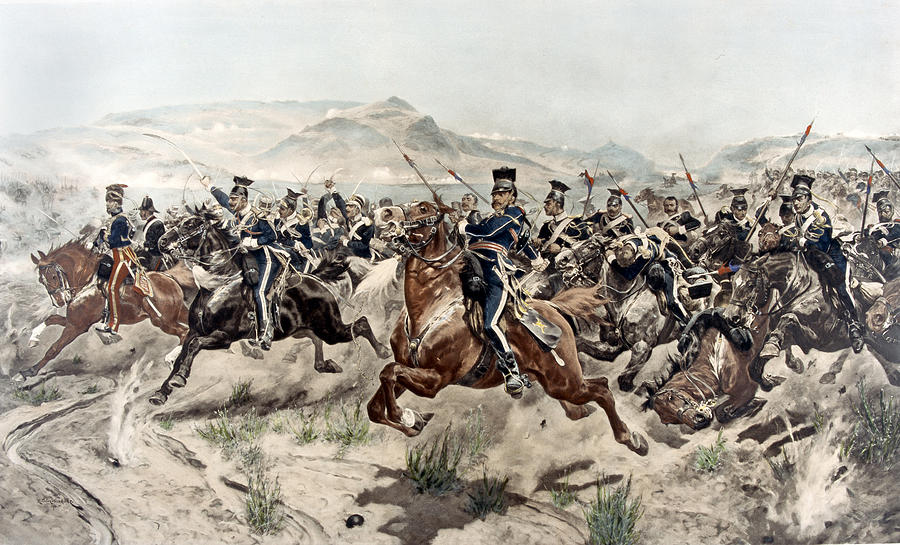 Crimean War Painting - The Charge Of The Light Brigade, 1895 by Richard Caton Woodville
