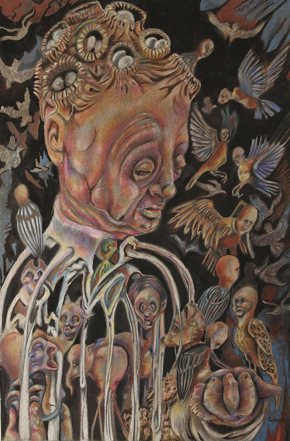 Surreal Drawing - The Charismatic Qualities Of Mr. Jack Downsby by Michael Sienerth
