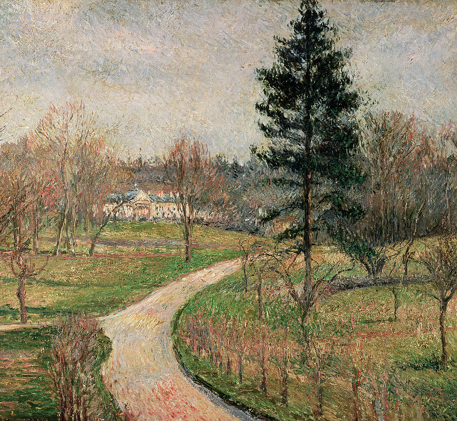 Impressionist Painting - The Chateau At Busagny by Camille Pissarro