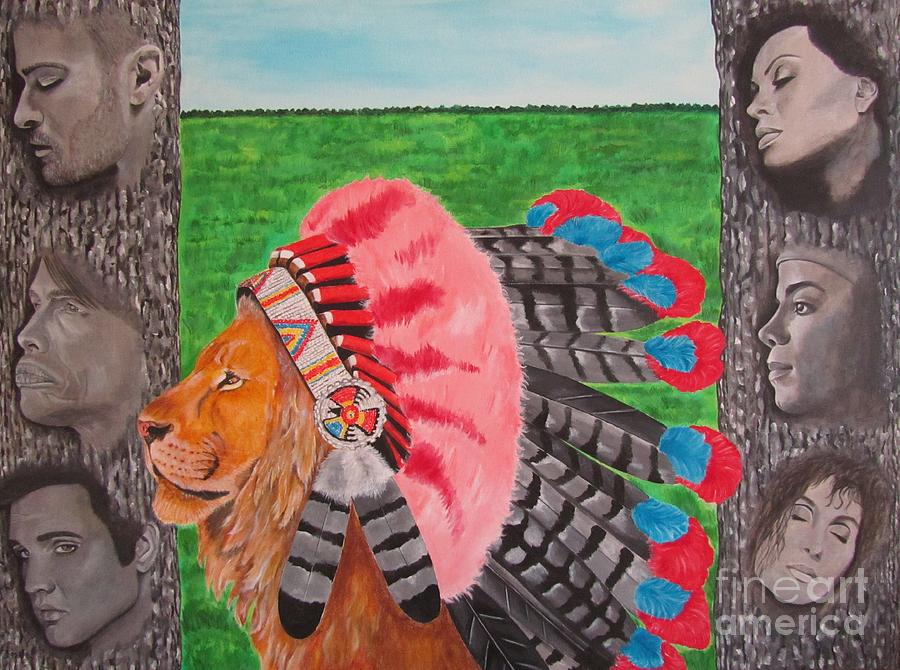 Cherokees Painting - The Cherokees by Jeepee Aero