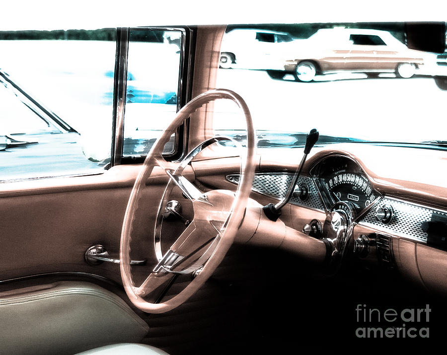 Car Photograph - The Chevy Bel Air  by Steven Digman