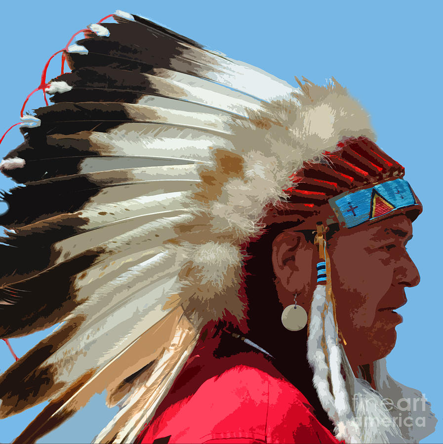 Indian Photograph - The Chief by Jost Houk