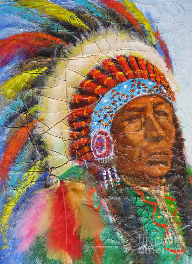 Ancient Painting - The Chief by Mohamed Hirji