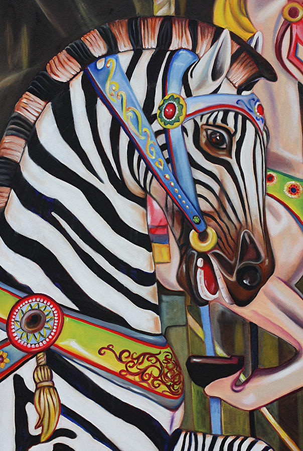 Merry-go-round Painting - The Child Whisperer  by Eve  Wheeler