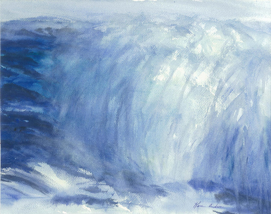 The Chill Of The Winters Sea Painting by Karen  Condron