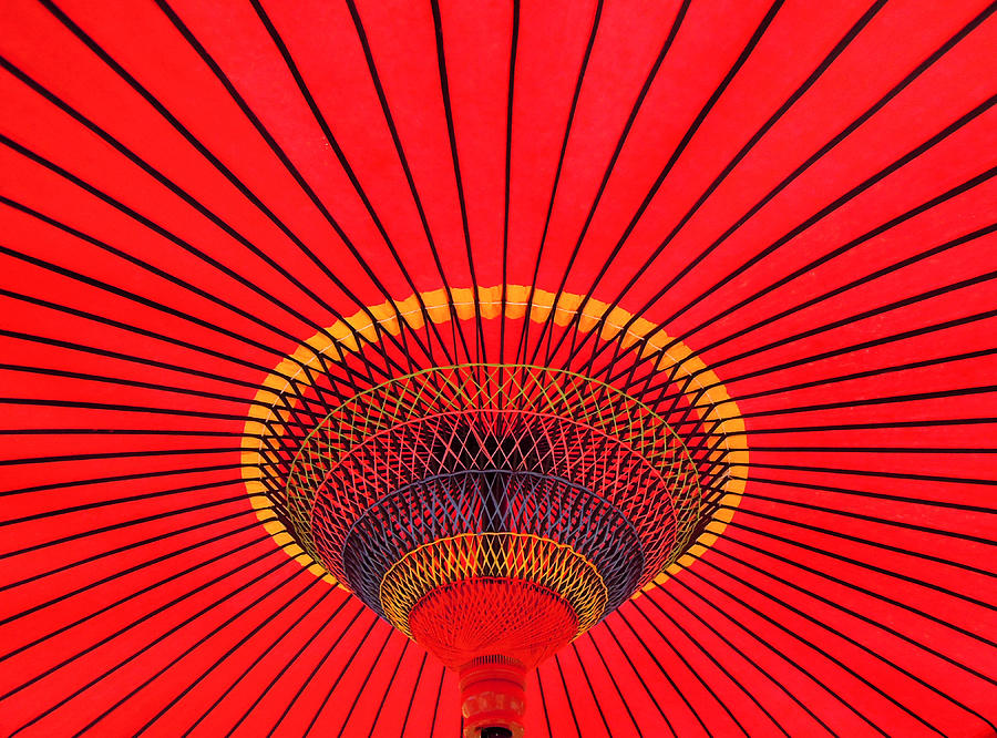 Umbrella Photograph - The Chinese Umbrella by Farah Faizal