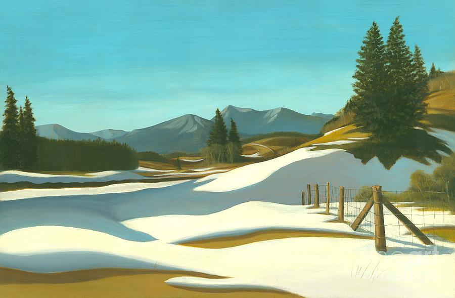 Chinook Wind Painting - The Chinook Wind Blows by Michael Swanson