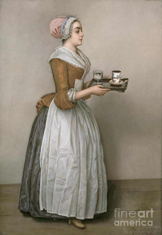 Servant Painting - The Chocolate Girl by Jean-Etienne Liotard
