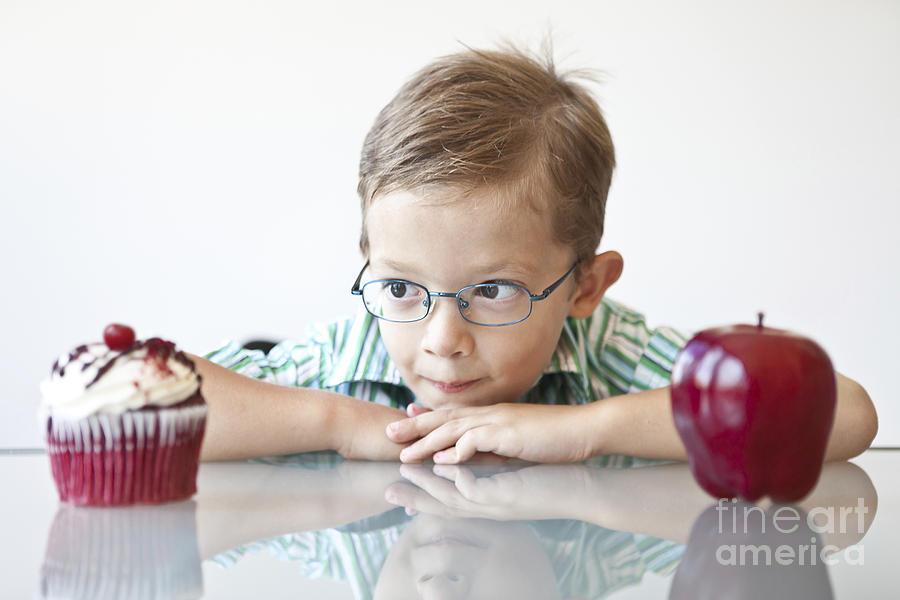 Boy Photograph - The Choice by Diane Diederich