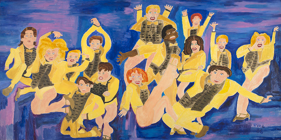 Dance Painting - The Chorus Line by Don Larison