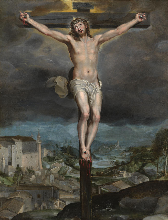 Christ Painting - The Christ Expiring On The Cross by Federico Barocci