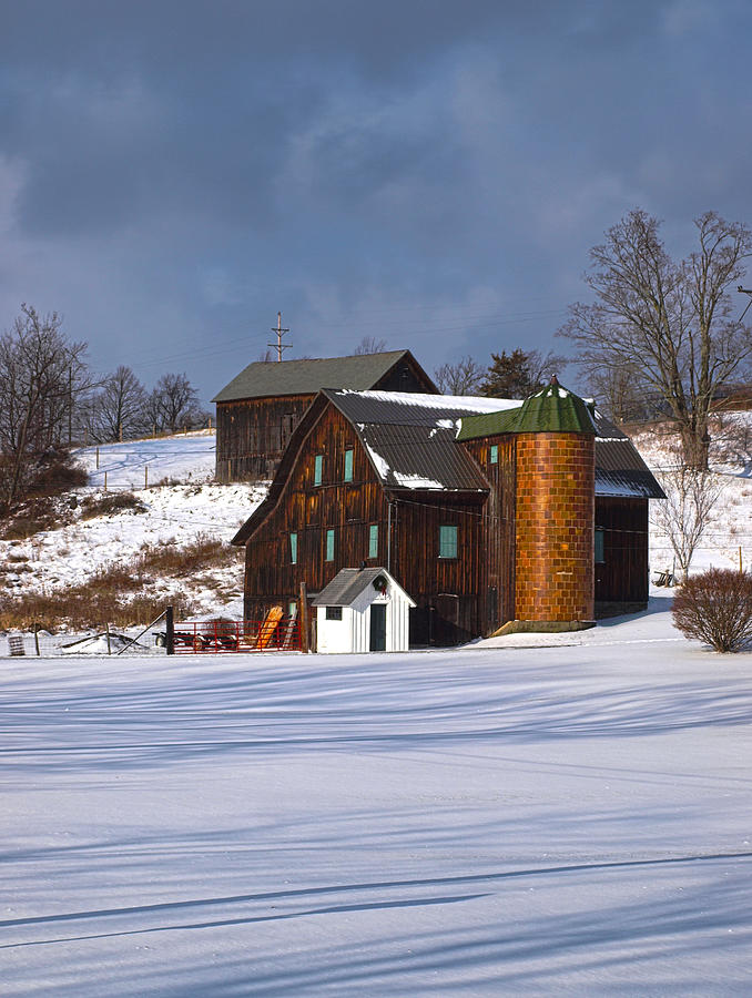 Barn Photograph - The Christmas Barn by Joshua House