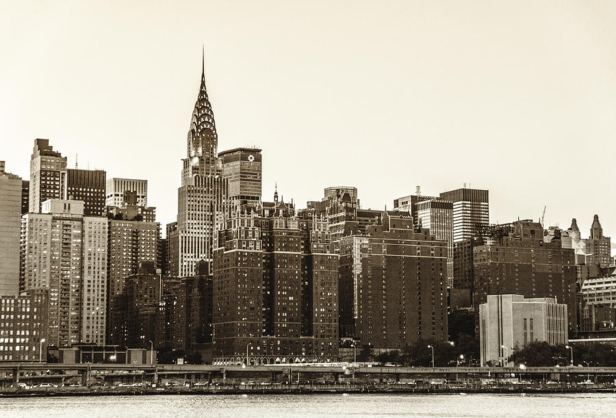 the chrysler building and new york city skyline photograph. Black Bedroom Furniture Sets. Home Design Ideas