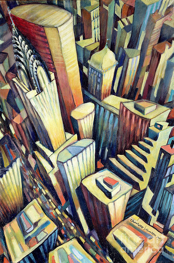 City Painting - The Chrysler Building by Charlotte Johnson Wahl