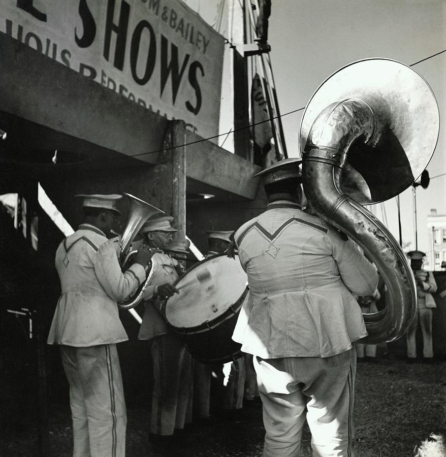 The Chubby Circus Band Photograph by Toni Frissell