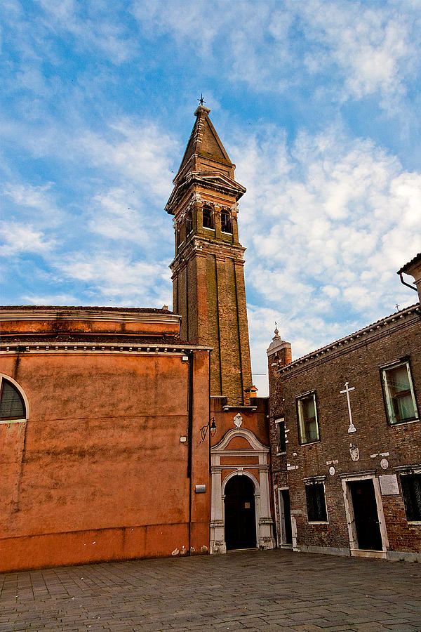 Burano Photograph - The Church Of Saint Martin by Peter Tellone