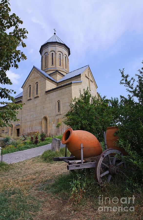 Church Photograph - The Church Of St Nicolas Inside The Narikala Fortress Tbilisi by Robert Preston