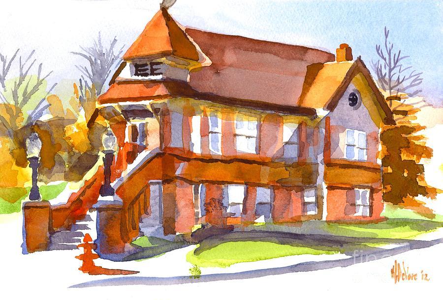 The Church On Shepherd Street 3 Painting - The Church On Shepherd Street 3 by Kip DeVore