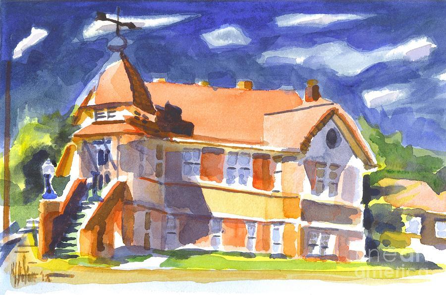 Watercolor Painting - The Church On Shepherd Street II by Kip DeVore