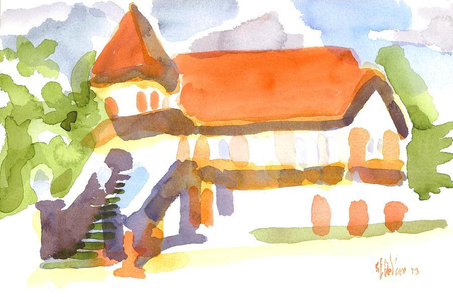 Watercolor Painting - The Church On Shepherd Street V by Kip DeVore