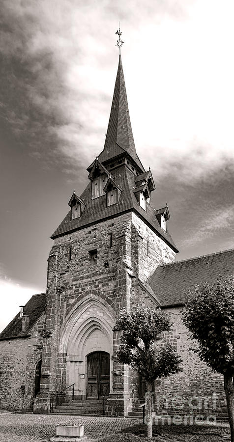 France Photograph - The Church With The Dormers On The Steeple by Olivier Le Queinec