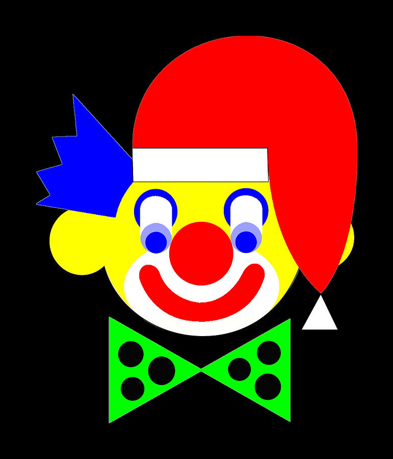 The Circus Clown wishes you a Merry Christmas Digital Art by Asbjorn Lonvig