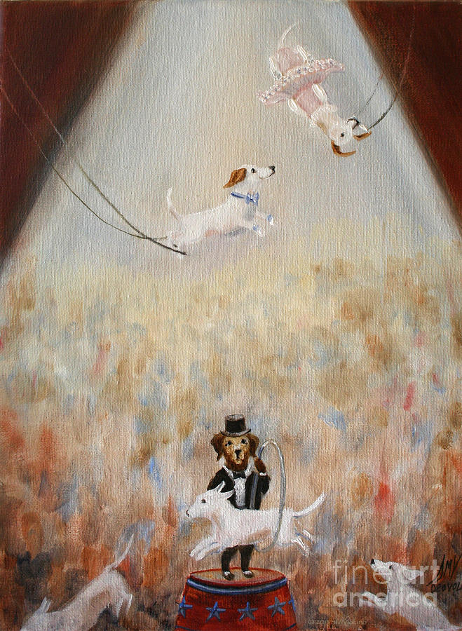 Circus Painting - The Circus by Stella Violano