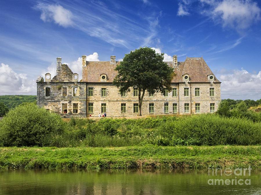 Ancient Photograph - The Cistercian Abbey De Bon Repos Cotes Darmor Brittany France  by Jon Boyes