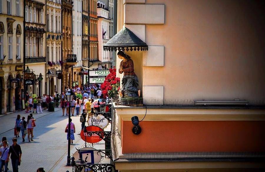 Statue Photograph - The City Can See You by Joanna Madloch