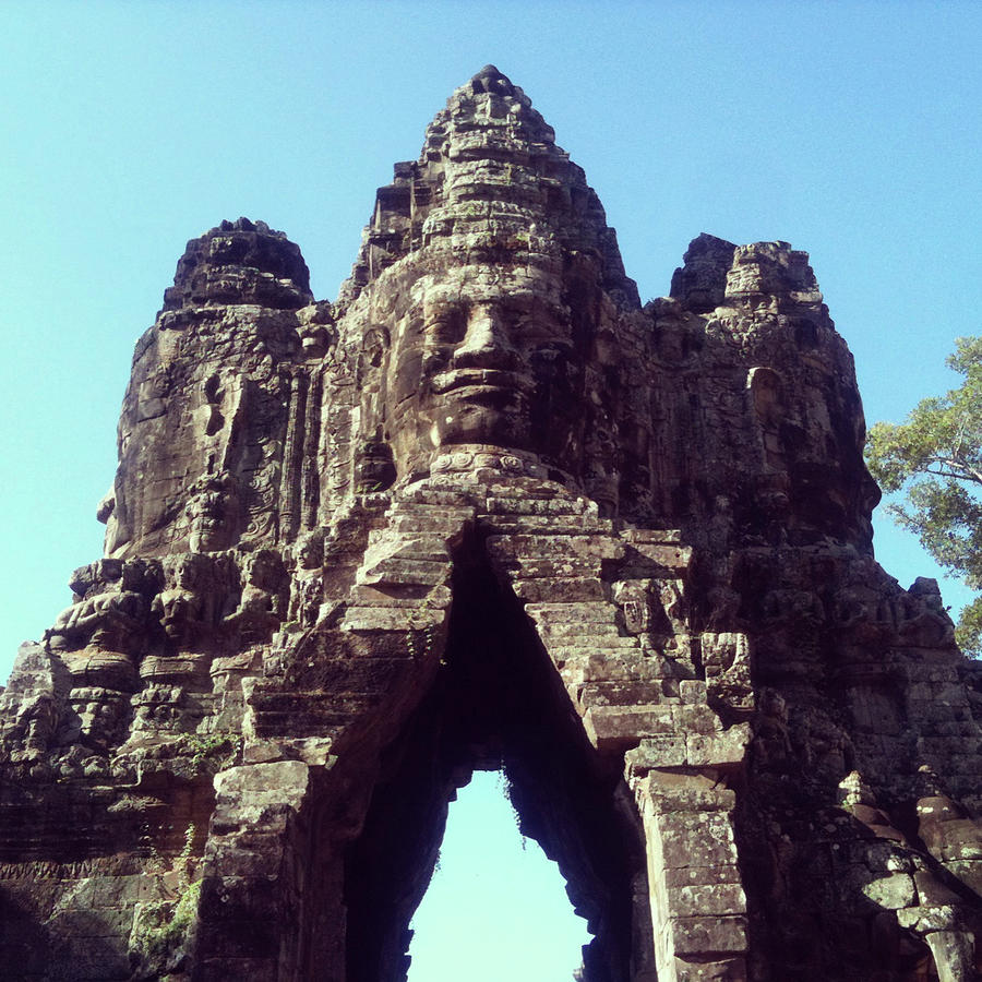 The City Gates At Angkor Photograph by Lasse Kristensen