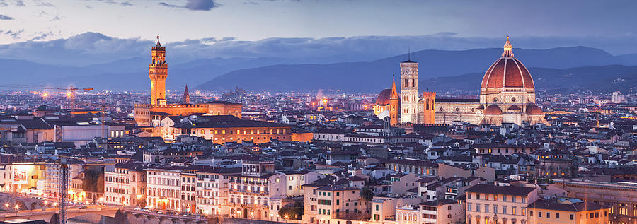 The City Of Florence At Dusk Photograph by Julian Elliott Photography