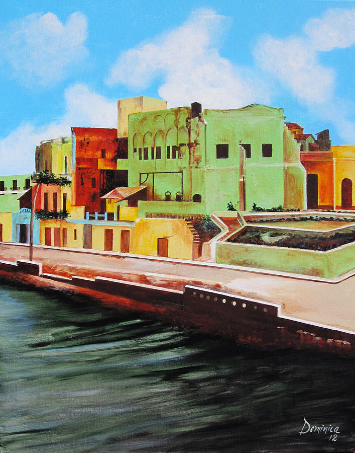 The City Of Matanzas In Cuba Painting