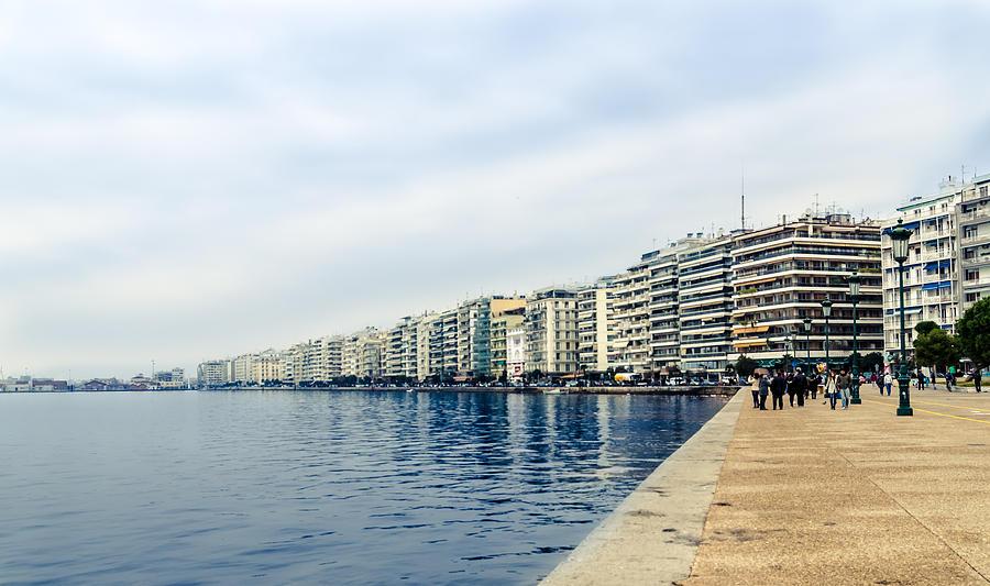 Touristic Photograph - The City Of Thessaloniki. by Slavica Koceva